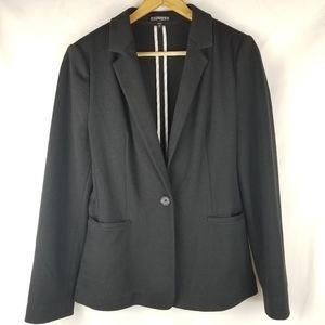 Express One Button Black Blazer Women's Medium